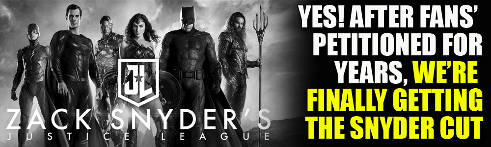 OFFICIAL: Holy s#@t! HBO Max is RELEASING THE SNYDER CUT!!!
